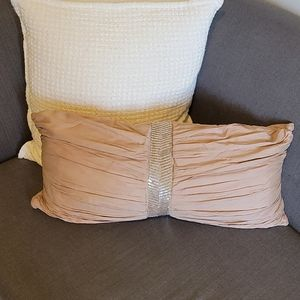 Horchow Couture Dusty Rose Pink Decor Pillow